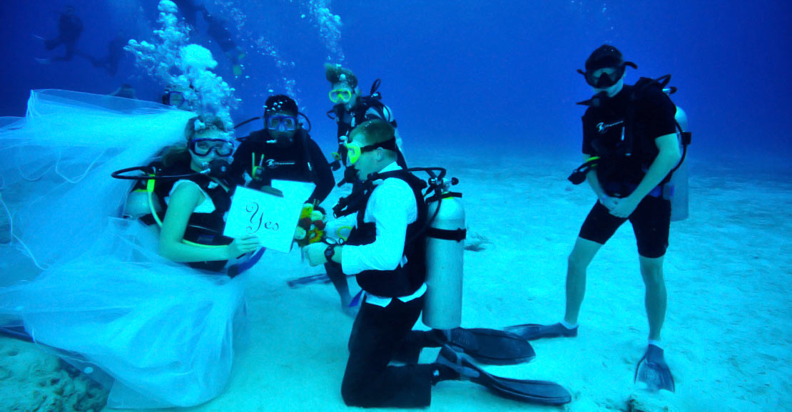 scuba diving luxury island events